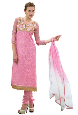 Noticeable Embroidered Chiffon Salwar Kameez