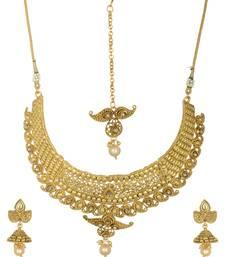 Buy Bridal traditional mango choker necklace set. necklace-set online