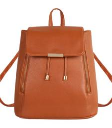 Buy Tan PU Cadence Backpack backpack online