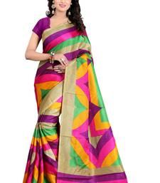 Buy Multicolor printed bhagalpuri silk saree with blouse bhagalpuri-silk-saree online