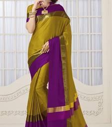 Buy Yellow soft silk saree with blouse silk-saree online