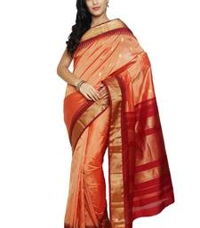 Buy Pink silk saree with blouse kanchipuram-silk-saree online