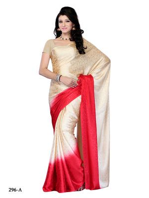 Beige Color Jacquard Party Wear Fancy Designer Saree