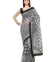 Buy Grey kota cotton embellished saree with blouse kota-silk-saree online