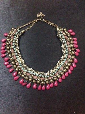 Multicolr thread drop Necklace