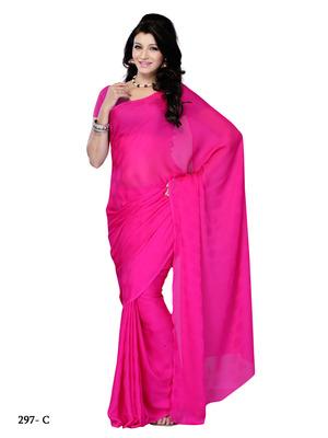 Pink Color Jacquard CasualOffice Wear Fancy Saree