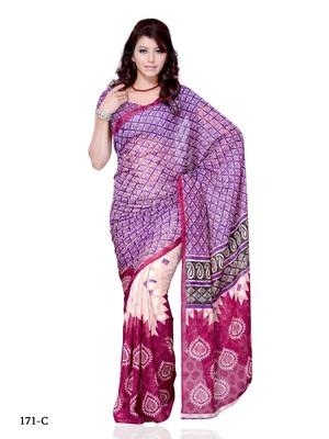 Purple Color Jacquard FestivalParty Wear Designer Saree