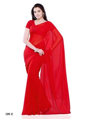 Red Color Chiffon FestivalCasual Wear Saree