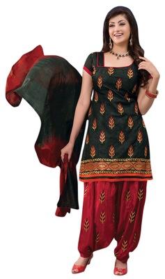 Alluring Embroidered Chanderi Cotton Salwar Kameez