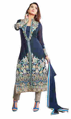 Gauhar Khan's Fascinating Intricate Embroidered Cotton Salwar Kameez