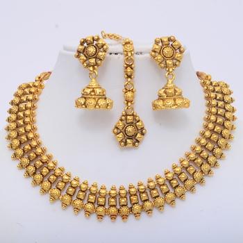 Beautiful Gold Polki Set