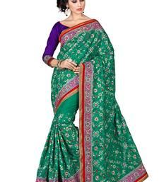 Buy Green embroidered manipuri silk saree with blouse manipuri-silk-saree online