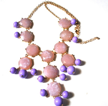 Purple marble effect necklace