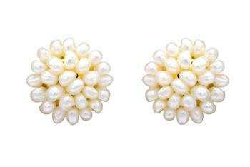 UNIQUE REAL PEARLS DOPPA TOPS/EARRINGS FROM HYDERABAD - PCE1064