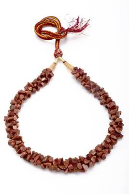UNCUT SUNSTONE RASSA MALA FROM HYDERABAD -