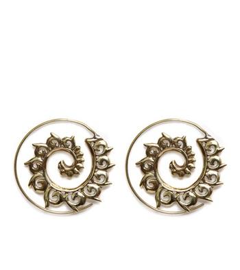 Gold Flora Aura Spiral Earrings