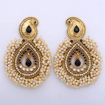 Queenly  Small Pearls Polki Danglers