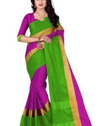 Buy Purple plain silk saree with blouse below-1500 online