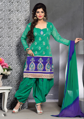 green Indian Ladies Suits in designer style