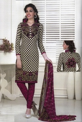 Dazzling Multi Color Printed Crepe Unstitched Dress Material D.No MA217