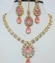 Buy Pink diamond necklace-sets necklace-set online