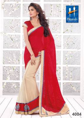 half & half designer saree 4004.