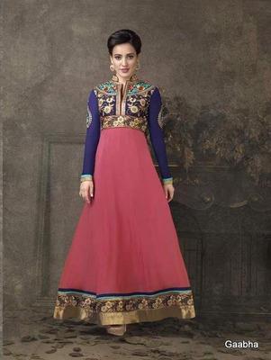 Pink Georgette Dress Material