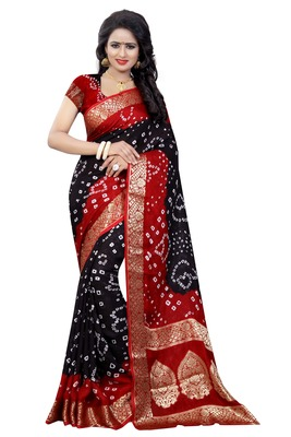 Multicolor art silk saree with blouse