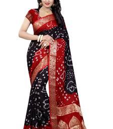 Buy Multicolor art silk saree with blouse bandhani-sarees-bandhej online