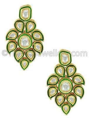 Clear Vilandi Kundan Dangle Earrings Jewellery for Women - Orniza