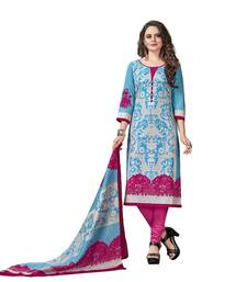 Buy Turquoise printed cotton salwar black-friday-deal-sale online