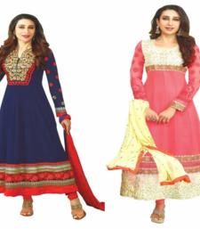 Buy Multicolor embroidered georgette salwar with dupatta salwar-combo online