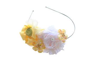 Flower cluster Hairband (Yellow)