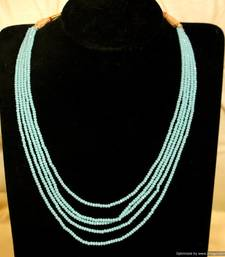 Buy Firozi Colour 5 Line Necklace Necklace online