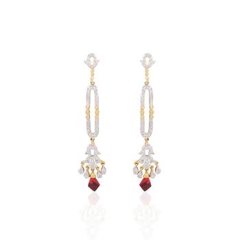 Striking american diamond earrings