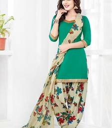 Buy Multicolor printed crepe unstitched salwar with dupatta punjabi-suit online