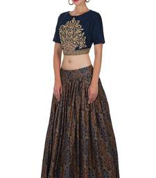 Buy Multicolor printed cotton unstitched lehenga cotton-lehenga online
