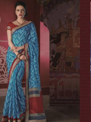 Printed Bhagalpuri Khadi Silk Saree