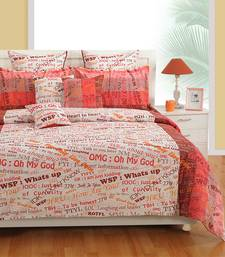 Buy Swayam Cotton Bedsheet  with Pillow Cover (White) bed-sheet online