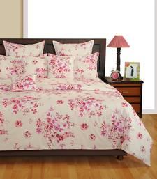 Buy Swayam Cotton Bedsheet  with Pillow Cover (Off White) bed-sheet online