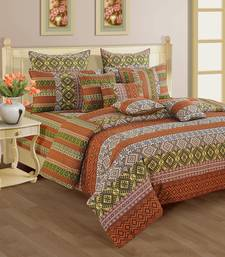 Buy Swayam Cotton Bedsheet  with Pillow Cover (Rust) bed-sheet online