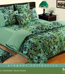 Buy Swayam Cotton Bedsheet  with Pillow Cover (Green) bed-sheet online
