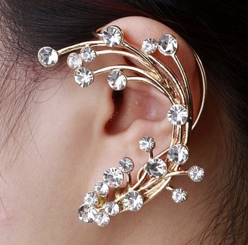 Fashion  crystal Ear cuff Earring