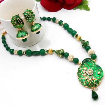 Meenakari Solid Color Necklace