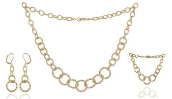 gold single line necklace