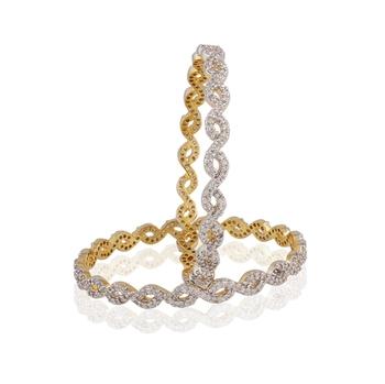 Heena Jewellery AD studded Bangles >> HJBG4 <<