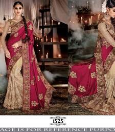Buy Red embroidered georgette saree georgette-saree online