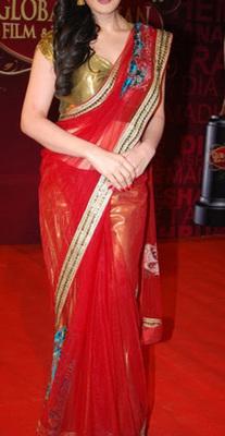 Zareen Khan Indian Traditional Bollywood Designer Partywear saree, Fancy Saree