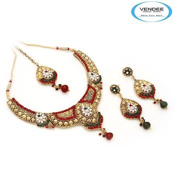Vendee-Indian wedding fashion designer costume necklace jewelry (6860)