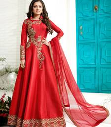 Buy Red embroidered art silk salwar black-friday-deal-sale online